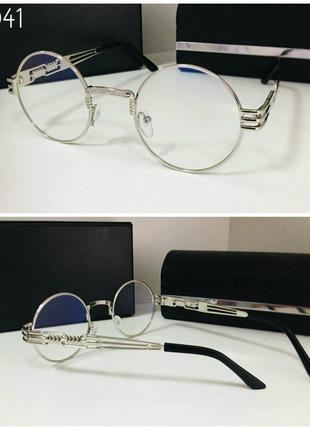 Стильные очки для имиджа и работы за компьютером кругляши