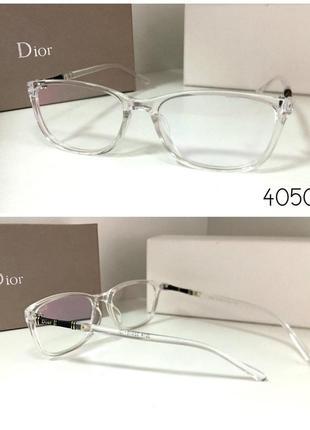 Имиджевые стильные очки, бело-прозрачная оправа