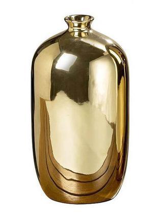 Металлическая ваза 26 см. золотистая BST 480551
