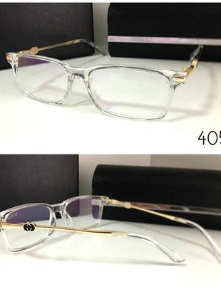 Имиджевые стильные очки, оправа белая-прозрачная gucci