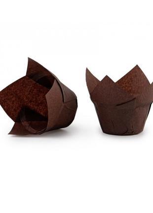 Бумажные формы для выпечки кексов 50*80 мм, 10 шт.