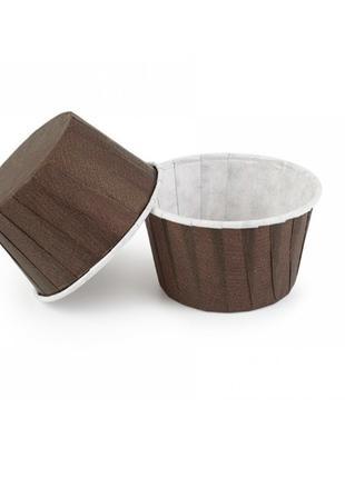 Бумажные формы для выпечки кексов с закрученным бортиком 40*50...