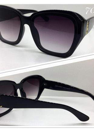 Очки женские солнцезащитные классика черные