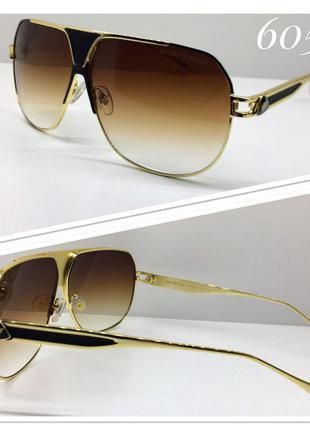 Солнцезащитные очки мужские коричневые