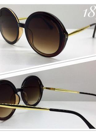 Стильные солнцезащитные очки круглые оверсайз идеальная посадка