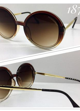 Очки солнцезащитные круглые овесайз
