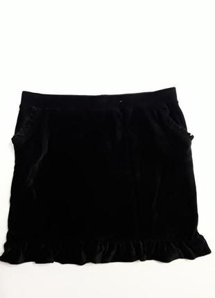 Фирменная стрейчевая юбка под вельвет