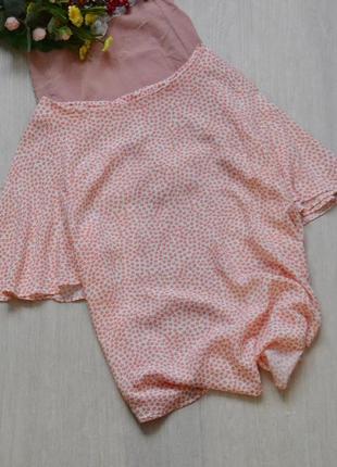 Вискозная блузочка в цветочек h&m