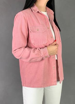 Джинсовая рубашка вельвет оверсайз asos.