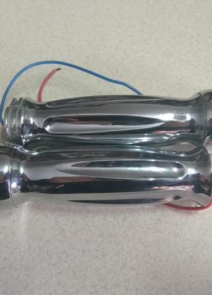 Грипсы ручки руля алюминиевые с поворотом вставка под два троса