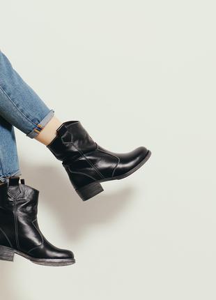 Кожаные ботинки-Казаки