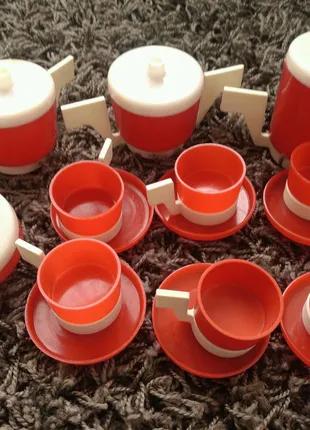 Посуда кукольная посудка для кукол пластиковая чайный сервиз ссср