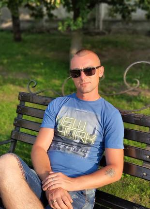 Стильные мужские очки черные поляризация матовая оправа ( код ...