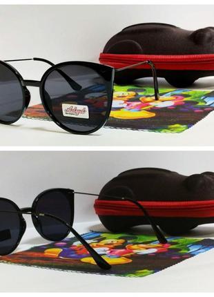 Солнцезащитные очки детские  черные ( код 3302)