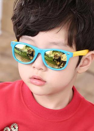 Детские яркие очки зеркалки