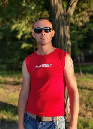 Мужские солнце спорт  черные матовая оправа ( код 9310)