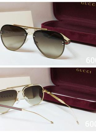 Солнцезащитные очки коричневые авиаторы