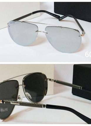 Солнцезащитные очки  авиаторы зеркалки с поляризацией
