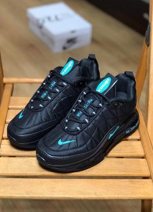 Nike air max 720-818 black blue, мужские кроссовки найк аир макс