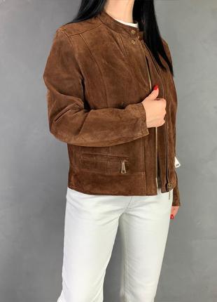 Куртка натуральная замша saooaluo