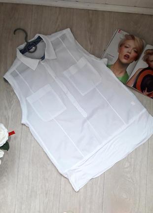Белоснежная рубашка размер л g- star raw