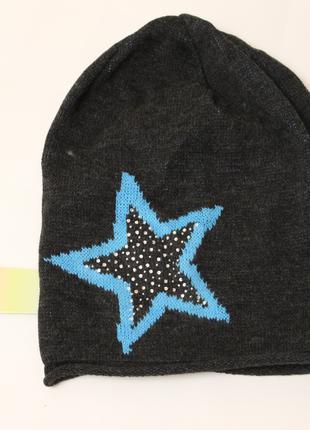 Подростковая шапка со звездой