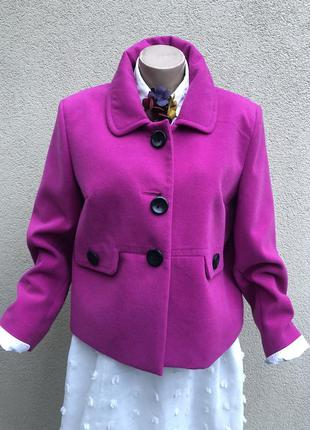 Новое,яркое,малиновое пальто,полупальто,большой размер,батал,в...