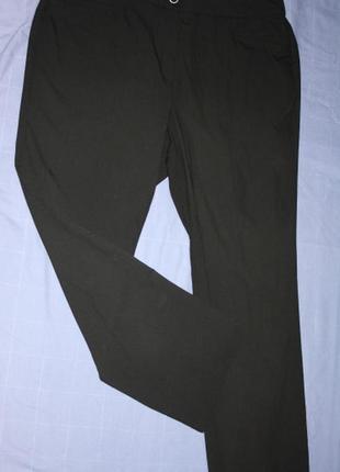 Удобные черные брюки штаны, высокий рост ,22 р.