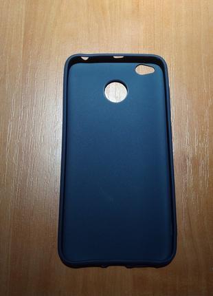 Чехол силиконовый для Xiaomi Redmi 4X синий