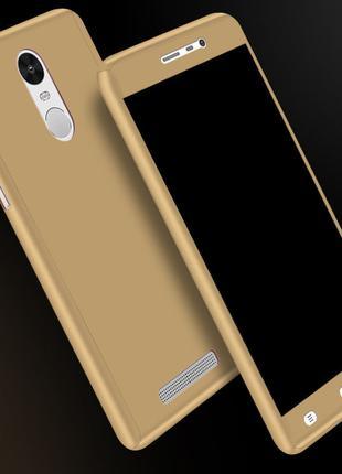 Чехол пластиковый для Xiaomi Redmi 4A золотый