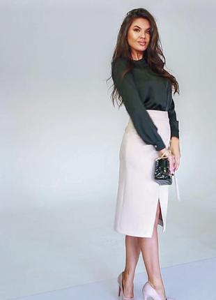 Блуза блузка черная классическая шелковая