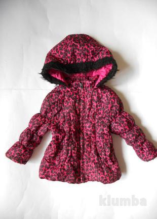 Леопардовая куртка демисезонная 1,5-2 годика