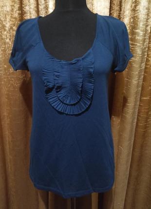 Красивая футболка цвета морской волны ann taylor loft