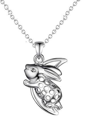 🏵 стильная подвеска на цепи в серебре 925 кулон зайчик, новый!...