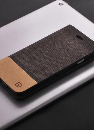 Чехол книжка для смартфона Xiaomi Redmi Note 4X brown