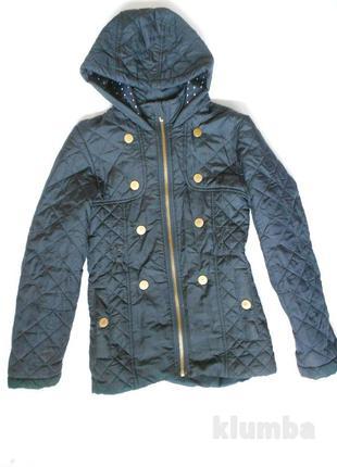 Демисезонная куртка синяя, стеганная 9-10 лет