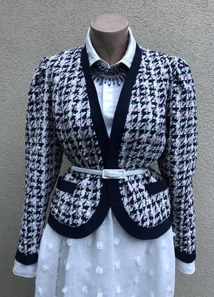 Винтаж,легкий жакет,пиджак,блейзер стёганым,без застежки,