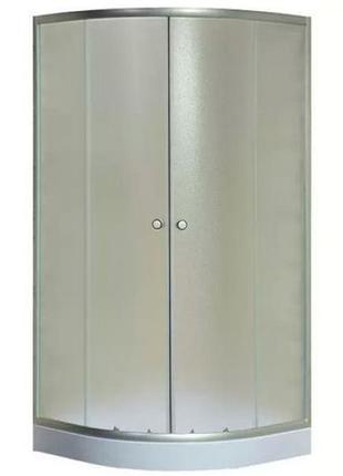 Душевая кабина Sansa 80х80 см, полукруг, поддон 15 см+сифон. ХИТ!