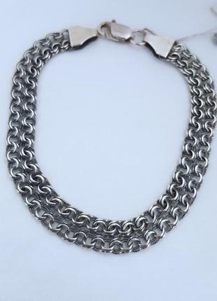Браслет серебро 925 проба, длина 22.5 см.