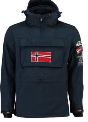 Куртка анорак софтшелл geographical norway target 12 лет синий