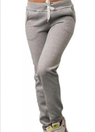 Тёплые спортивные штаны трехнитка на флисе