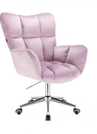 Парикмахерское кресло HR650K зеленый велюр