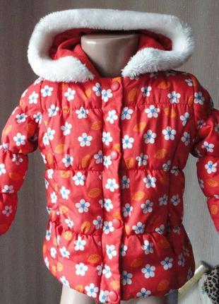 Демисезонная куртка на флисе mothercare 1-1,5г