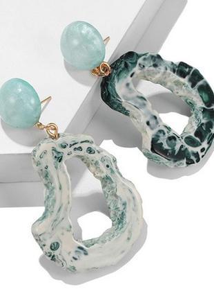 🏵нарядные модные серьги камни, новые! арт. 3730