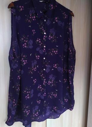 Темнофиолетовая  блуза