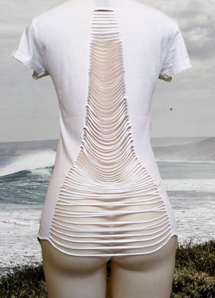 Белая хлопок футболка s-ponder в стиле гранж, пог 43-48 см, ту...