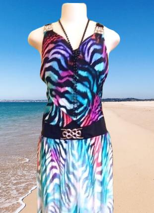 Изумительное макси платье-сарафан  poliit с открытой спиной, р...