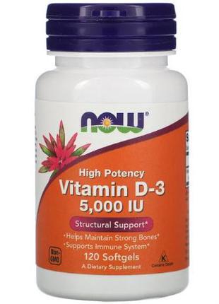 Now Foods, Витамин D-3, Витамин Д3, холекальциферол