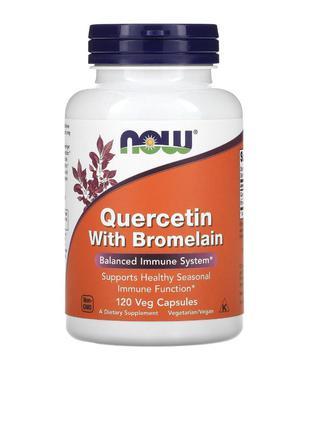 Now Foods, кверцетин с бромелаином, 120 растительных капсул
