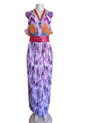 Макси платье kushi большого размера, летнее платье с разрезами...